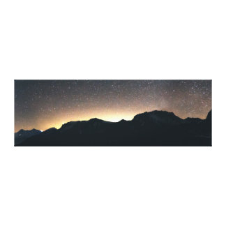 See Thun, die Schweiz u. sternenklarer Himmel Leinwanddruck