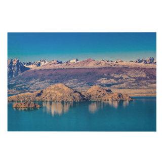 See-und Gebirgslandschaft, Patagonia, Chile Holzleinwand