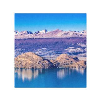 See-und Gebirgslandschaft, Patagonia, Chile Leinwanddruck