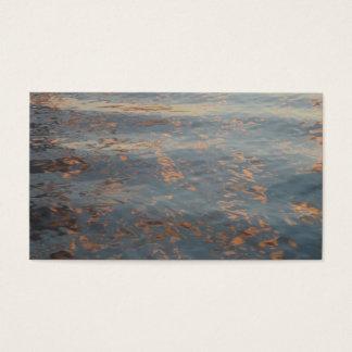 See-Wasser-Sonnenuntergang-Visitenkarten Visitenkarten