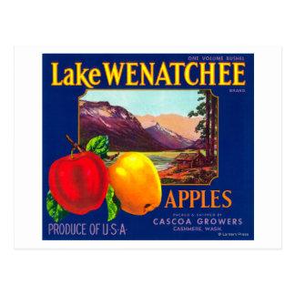 See Wenatchee Apple beschriften (Blau) - Kaschmir, Postkarte