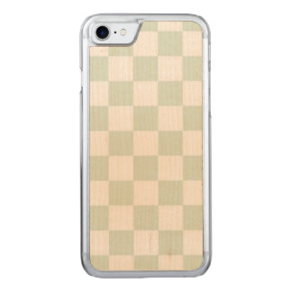 Seeanemonen-Gingham-Muster Carved iPhone 8/7 Hülle