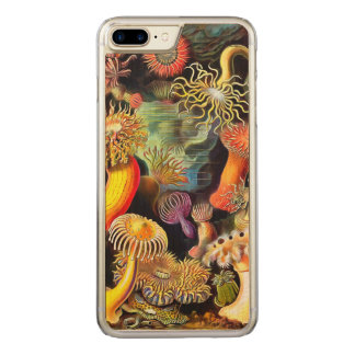 Seeanemonen-Vintage Kunst Ernst Haeckel Carved iPhone 8 Plus/7 Plus Hülle