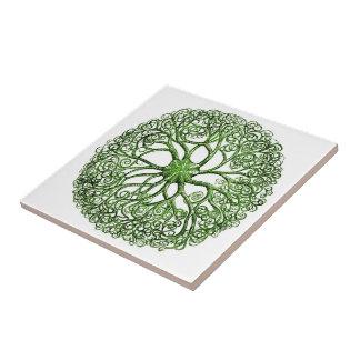 Seeanemonen-Vintages Seeleben Keramikfliese
