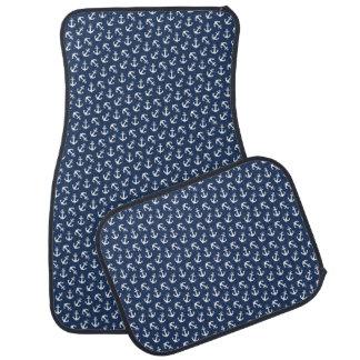 Seeanker-Aweigh Muster-Marine Autofußmatte
