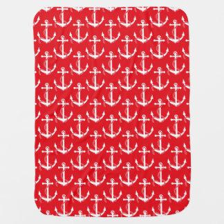 Seeanker-Aweigh Rot Babydecken