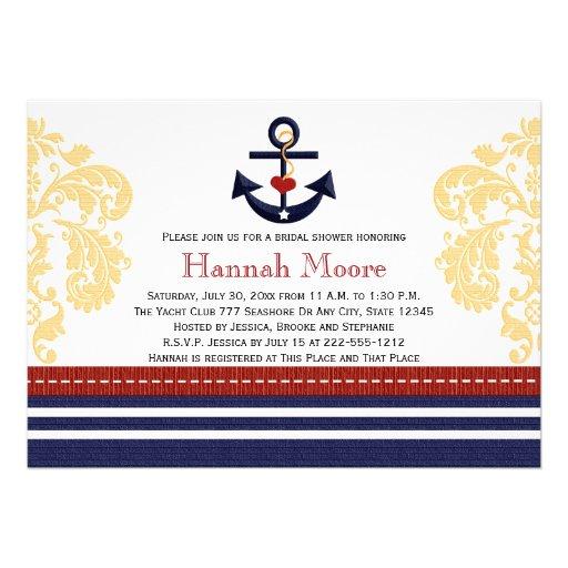 Seeanker-Brautparty-Einladungen