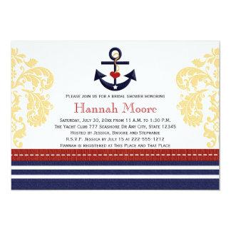 Seeanker-Brautparty-Einladungen 12,7 X 17,8 Cm Einladungskarte