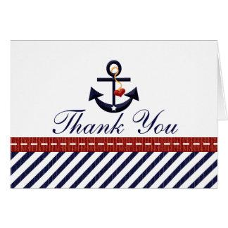 Seeanker danken Ihnen Anmerkungs-Karten Mitteilungskarte