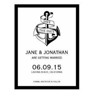 Seeanker, der Save the Date Wedding ist Postkarte
