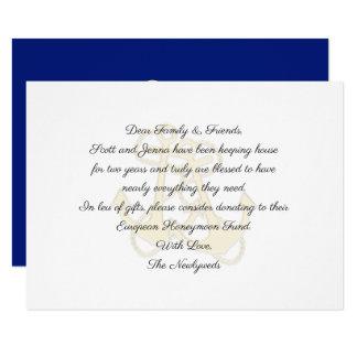 Seeanker, die wohle Karten wünschend Wedding sind Karte