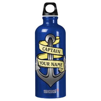 Seeanker-kundenspezifischer Schiffs-Kapitän Ihr Aluminiumwasserflasche