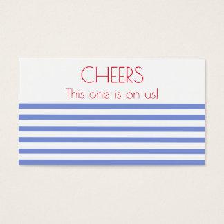 Seeanker, Marine Striped Hochzeits-Getränk-Karte Visitenkarte