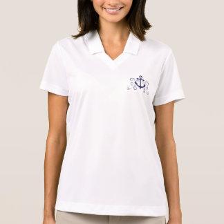 Seeanker mit Wirbel - Segeln Polo Shirt