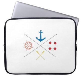 "Seeanker-Segel-Segelboot 15"" Laptop-Kasten Computer Schutzhülle"