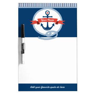 Seeanker-Seil-Band Stripes rotes weißes Blau Whiteboard