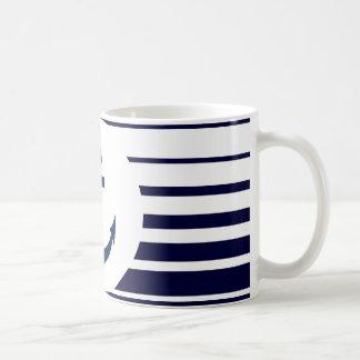 Seeanker-Tasse mit den blauen und weißen Streifen Tasse