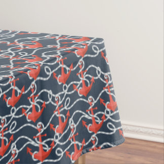 Seeanker und Seil-Muster Tischdecke