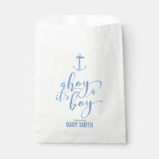 SeeAquarell-Anker-Babyparty-Jungen-Blau Geschenktütchen
