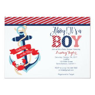 SeeBabyparty-Einladung für Jungen 12,7 X 17,8 Cm Einladungskarte