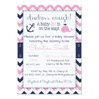SeeBabyparty-Einladungen für ein Mädchen 12,7 X 17,8 Cm Einladungskarte
