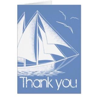 Seeblau dankt Ihnen zu kardieren Karte