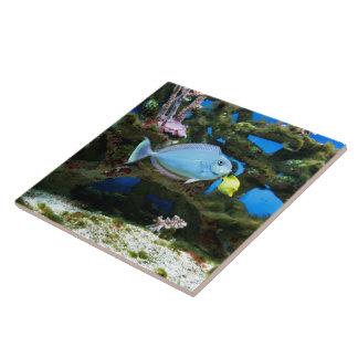 Seeblau-Fische Große Quadratische Fliese