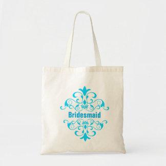Seeblaue Brautjungfern-Hochzeits-Taschen-Tasche Budget Stoffbeutel