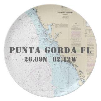 Seeboot breite-Länge-Punta Gorda FL Teller