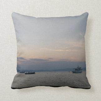 Seeboots-Wurfs-Kissen-Sonnenuntergang Thassos Kissen