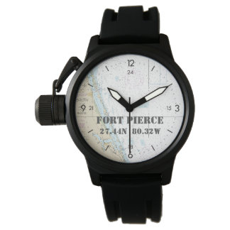 Seebreite-Länge-Kreissäge Fort Pierce FL Armbanduhr