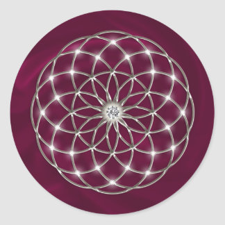 Seed of life - Tube Torus - Flower of life Runder Aufkleber