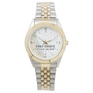 Seediagramm Breite-Länge-Fort Pierce FL Uhr