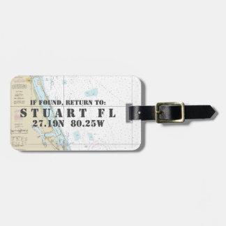 Seediagramm-Breite-Länge: Stuart, Florida Kofferanhänger