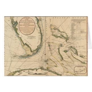 Seediagramm des Golfs von Florida Grußkarte