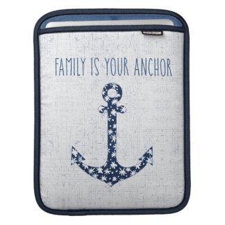 Seefamilie des zitat-| ist Ihr Anker iPad Sleeve