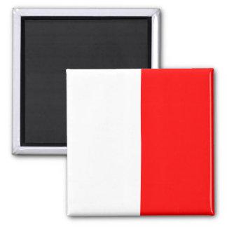Seeflaggen-Signal-Buchstabe H (Hotel) Quadratischer Magnet