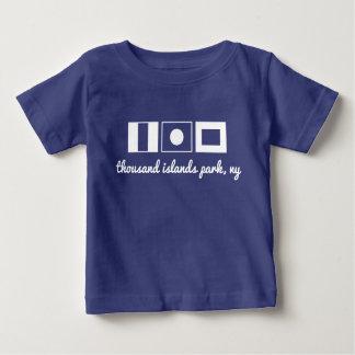Seeflaggent-stück - Inseln TIPP tausend parken, NY Baby T-shirt