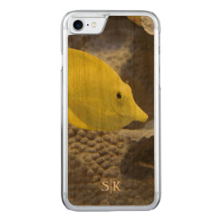Seeforscher-Gelb-korallenroter Carved iPhone 8/7 Hülle