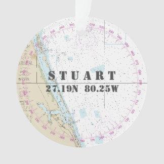 SeeFoto 2-Sided Stuart Florida Gedenk Ornament