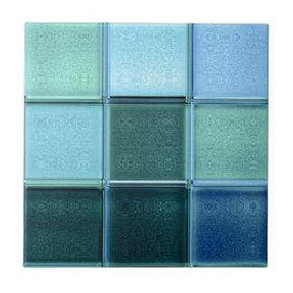 Seeglasmosaik-Keramikfliese ~ trivet oder Geschenk