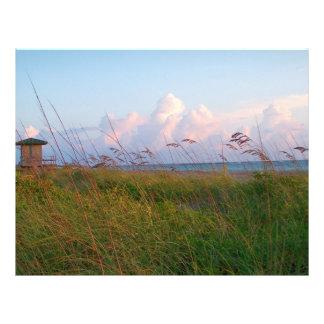 Seegrasstranddünenflorida-Leibwächterhaus Flyerdesign