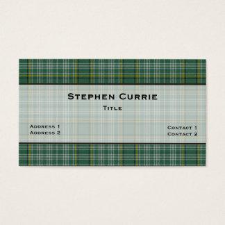 Seegrün Currie Tartan-karierte Gewohnheit Visitenkarte