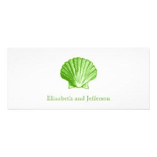 Seegrüne Muschel-Hochzeits-Glaseinladung Individuelle Einladungen