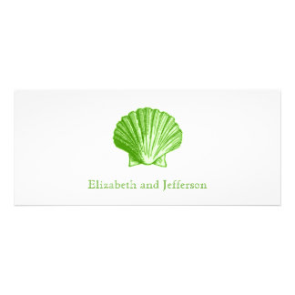 Seegrüne Muschel-Hochzeits-Glaseinladung