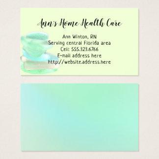 Seegrüne Zuhause-Gesundheitswesen-Glaskarten Visitenkarte