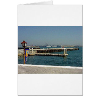 Seehafen-Dorf-Flugzeugträger-Pier-Wasser-Bucht D Grußkarte