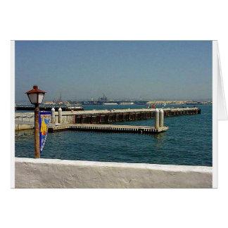 Seehafen-Dorf-Flugzeugträger-Pier-Wasser-Bucht D Karte