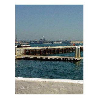Seehafen-Dorf-Flugzeugträger-Pier-Wasser-Bucht D Postkarten