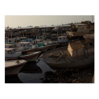 Seehafen mit Fischerbooten - Tartus, Syrien Postkarte